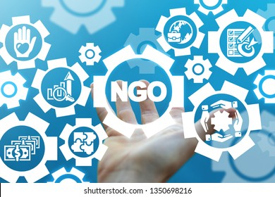NGO - non-governmental organizations. Contribution Corporate Foundation Nonprofit Concept.