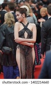 """Ngoc Trinh attends the screening of """"A Hidden Life (Une Vie Cachée)"""" during the 72nd annual Cannes Film Festival on May 19, 2019 in Cannes, France."""