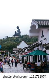 Ngong Ping, Lantau Island, Hong Kong - July 4, 2018:
