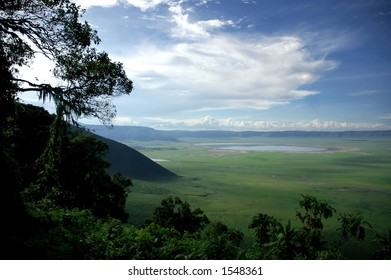 Ngorongoro Crater, one of the seven natural wonders of the world