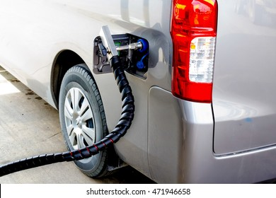 nGV gas nozzle and refuel with natural gas,  LPG. CNG.