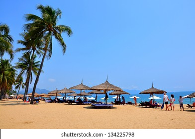 Nha Trang beach. Nha Trang is a coastal city in Vietnam, famous with beautiful beaches and bays