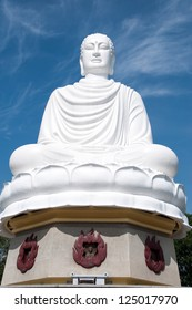 NHA TRANG, VIETNAM - DECEMBER 29 : A large sitting Buddha is shown on December 29,2012 in Nha Trang, Vietnam. This statue was constructed in 1964.