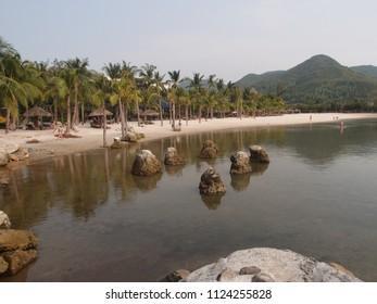 Nha Trang, Vietnam - march 27 2018: East sea and beach