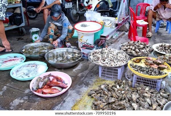 Nha Trang Vietnam Seafood Sale Vietnamese Stock Photo (Edit Now