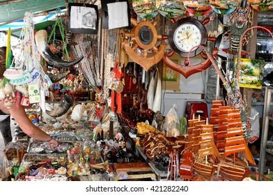 Nha Trang, VIETNAM - SEPTEMBER 28,2013: Sale of Souvenirs in the shop in the city of Nha Trang.Vietnam