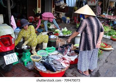 Nha Trang Vietnam, Vietnamese Market, September 2th, 2017