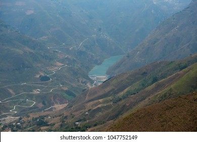 Nho Que River view from Ma Pi Leng Pass, one of the most beautiful is a mountain pass in Ha Giang, Viet Nam
