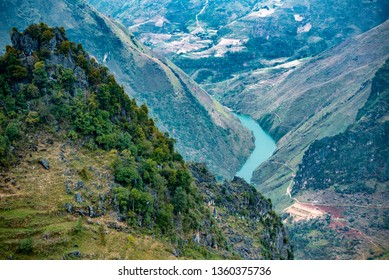 Nho Que River view from Ma Pi Leng Pass, one of the most beautiful are mountain and river in Ha Giang,  Vietnam