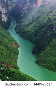 Nho Que River. View from Ma Pi Leng Pass, Dong Van District, Ha Giang Vietnam