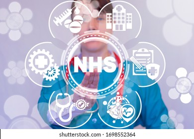 NHS National Health Service Concept. Medical Governance Country System.