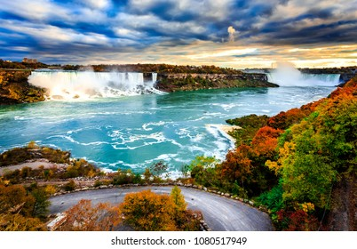 Niagara from Canadian side...both the falls in one frame...