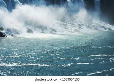 Niagara fall clear water background