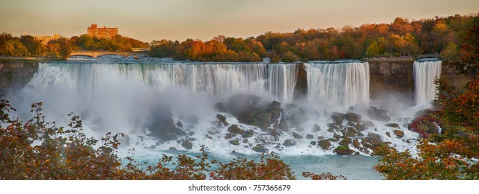 Niagara fall sunset, Ontario, Canada