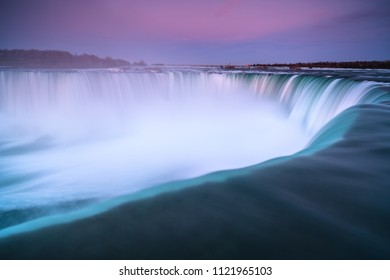 Niagara fall view during sunset