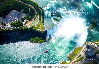Niagara falls aerial view