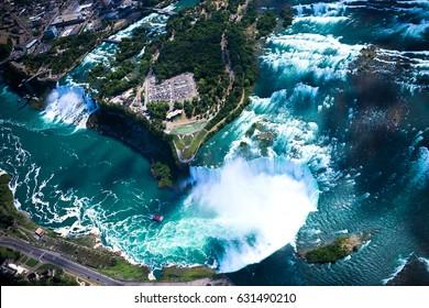 Niagara falls aerial view.