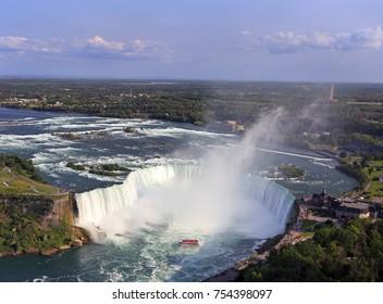 Niagara Falls, aerial view, Canada, Ontario