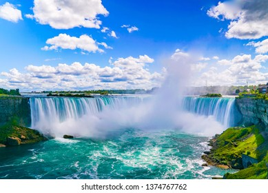NIAGARA FALLS - The amazing Niagara Falls is renowned for its beauty and is the collective name for three waterfalls that straddle the international border between Canad and the USA.