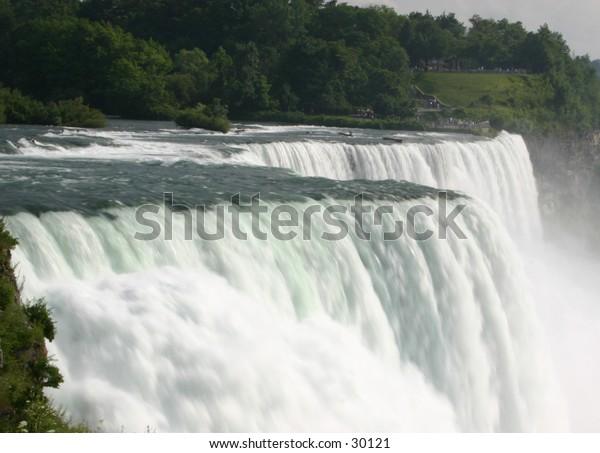 Niagara Falls from the American Side - closeup.
