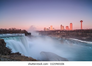 Niagara falls- American falls view during sunrise