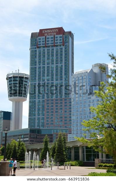 Niagara Falls Canada 2014 Tower Hotel Royalty Free Stock Image