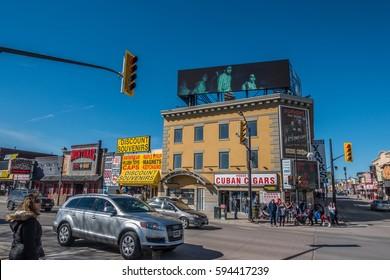Niagara Falls, Canada, February 20, 2017: Tourist Attractions,