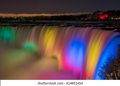 Niagara Falls, Canada at night