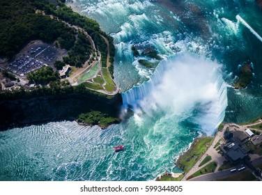 Niagara falls, Canadian side. Ontario, Canada