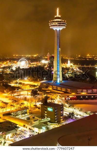 Niagara Falls Dec 14 2016 Skylon Stock Photo Edit Now