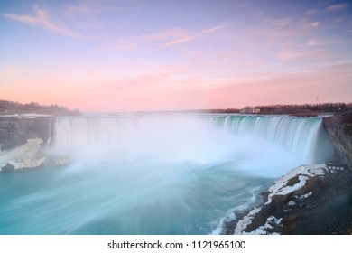 Niagara falls during sunset