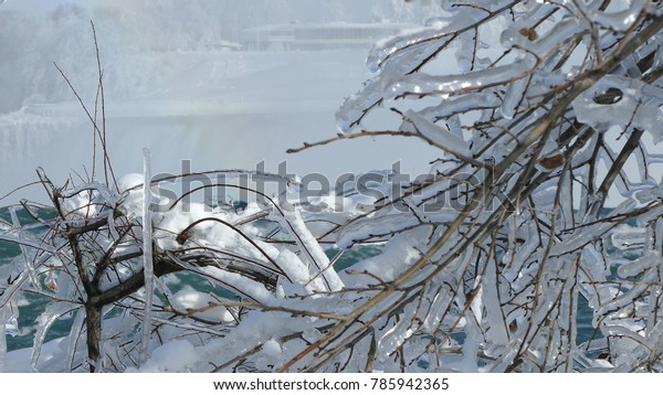 Niagara Falls Frozen Over During Polar Stock Photo Edit Now