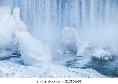 Niagara Falls in harsh 2014 winter, Ontario, Canada