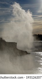 Niagara Falls in January 2021.  Facing South from USA side.