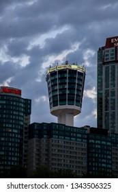 NIAGARA FALLS - MAY 29, 2016:  Tower hotel building seen on Canadian side in Niagara Falls, Canada.
