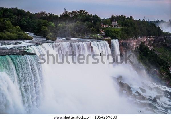 Niagara Falls New York Side Stock Photo Edit Now 1054259633