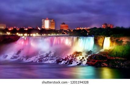 1000 Niagara Falls Night Stock Images Photos Vectors
