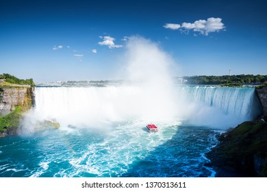 Niagara falls on a sunny day in the summer