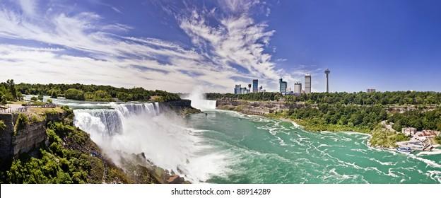 Niagara falls panoramic shot.