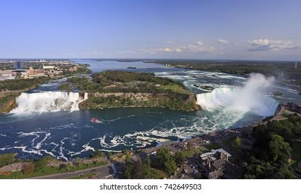 Niagara Falls, panoramic view from Skylon Tower, Canada