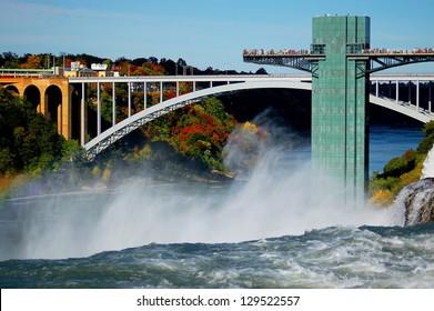 niagara falls and rainbow bridge connected usa and canada