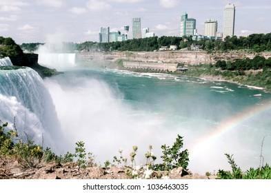 Niagara falls and river