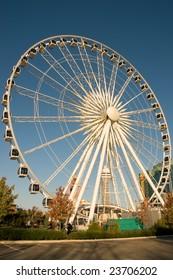 Niagara Falls Sky Wheel with casino tower on background, Niagara, Ontario, Canada