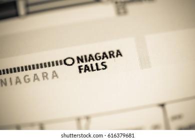 Niagara Falls Station. Toronto Metro map.