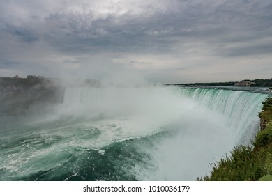 Niagara Falls in stormy weather, Ontario, Canada