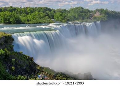 Niagara Falls at summer, long exposure.