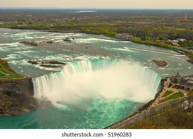 Niagara falls from the tower