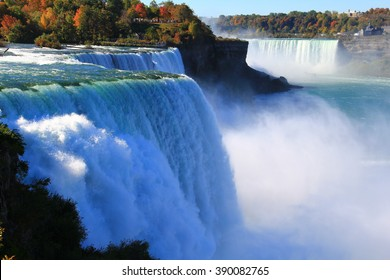 Niagara Falls from USA. Landscape view.