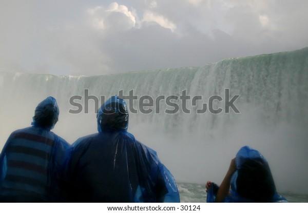 Niagara Falls from very close.