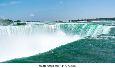 Niagara Falls waterfall view from the top in Ontario, Canada